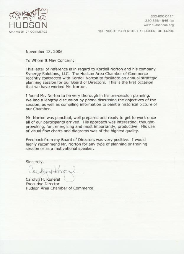 Kordell Norton Referal Letter Of Strategic Planning