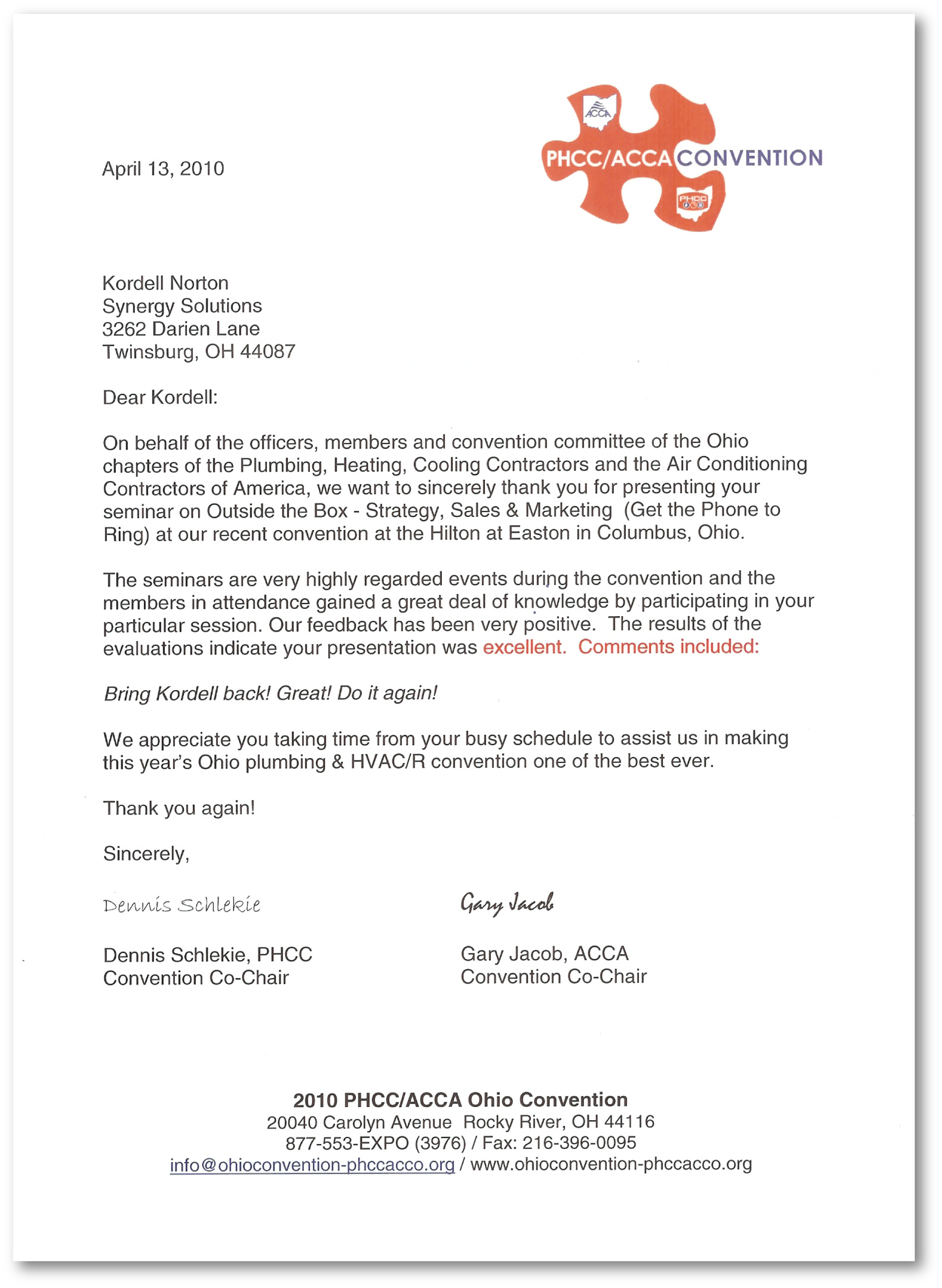 rd news reference letter kordell norton reference letter from the phcc acca convention